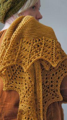 Pehmeitä paketteja: Muskottia ja tammea... Shawl Patterns, Knitting Patterns, Knitted Shawls, Crochet, Couture, Crafts, Fashion, Shawl, Long Scarf