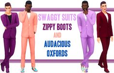 300 Followers Gift! Swaggy Suits, Zippy Boots, and Audacious Oxfords Huge, massive thanks to @deeetron and @teanmoon for pretty much redoing the mess I made of the suit mesh. You are both awesome! In...