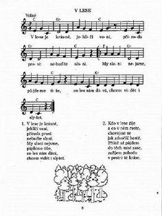 písnička o lese: Music Do, Children, Kids, Sheet Music, Thats Not My, Language, Teaching, Songs, Education