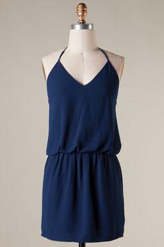 CHARMED I'M SURE Navy Blue Sleeveless Dress - Shop Simply Me –boutique – www.SHOPSIMPLYME.com - #ishopsimplyme – Naples, FL