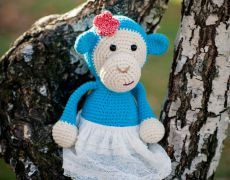 Jucărie croșetată - Maimuța Smurfs, Teddy Bear, Toys, Animals, Fictional Characters, Art, Fine Dining, Activity Toys, Art Background