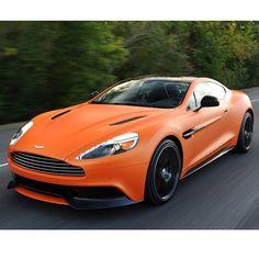 Matt Orange Aston Martin with Black wheels! Little bit in love with this car!!