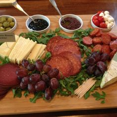 A small appetizer or meat & cheese board as everyone is getting home, getting settled and preparing for dinner. This is a great way to keep everyone together in the kitchen!