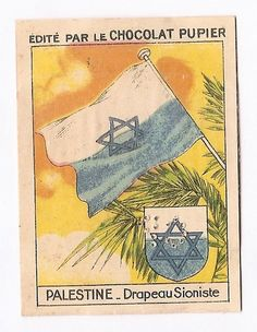 Palestine - Drapeau Pays Proche Moyen Orient - Image Chocolat Pupier (1938/39)
