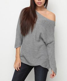Another great find on #zulily! Gray Dolman Sweater #zulilyfinds