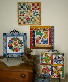 Quilted Pictures #8 ... love the colors and patterns
