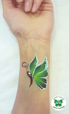Motyl #butterfly #motyl #facepainting #onestroke