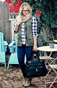 Elegant Buffalo Check Outfit For Women Look More Beautiful 30
