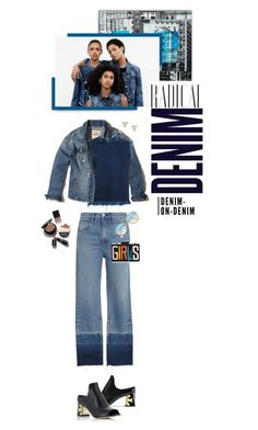"""""""Happy Saturday!!! I Love Denim!!"""" by shortyluv718 ❤ liked on Polyvore featuring Adina Reyter, Hollister Co., Marilyn Henrion, Marques'Almeida, Alima, 3x1, Giorgio Armani, denimjacket, Denimondenim and graphicclutch"""
