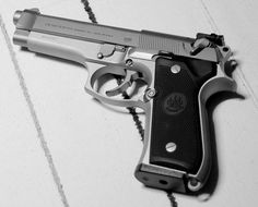 BERETTA 92 - (also Beretta 96 and Beretta 98) is a series of semi-automatic pistols designed and manufactured by Beretta of Italy. The model 92 was designed in 1972 and production of many variants in different calibers continues today. The United States Armed Forces replaced the Model 1911A1 .45 ACP pistol in 1985 with the military spec Beretta 92F, the M9.