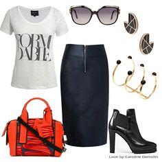 Uma saia para vários momentos! post completo em www.carolinedemolin.com.br #moda #fashion #trend #tendencia #estilo #styles #looks #lookoftheday #lookdodia #personalstylist #consultoriadeimagem #consultoriademoda #imagem #identidade #shoes #bags #bolsas #lelisblanc #jchermann #pierryhardy #allsaints #robertocavalli #animale #market33 www.carolinedemolin.com.br