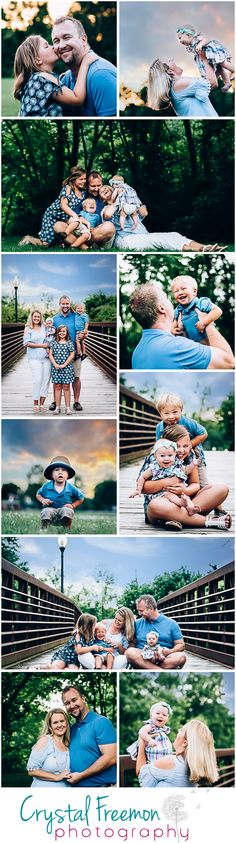 Summer Outdoor Lifestyle portrait session for family of 5 with baby, toddler and big kid. Carefree, candid poses and genuine emotion. Family Photography. Spring Hill, TN