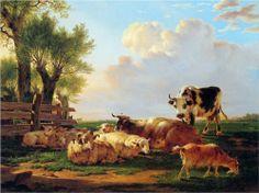 Meadow with cattle - Jacob van Strij, Wikipaintings