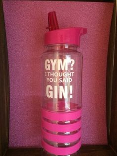 Gym water bottle pink blue green funny quote gym gin sportsbottle motivation gym gift Christmas flip lid red quote sports by LoveartsGifts on Etsy Gym Water Bottle, Water Bottles, Pink Blue, Blue Green, Red Quotes, Ewok, Gin And Tonic, Motivational, Decals