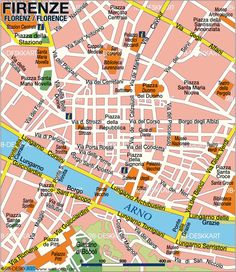Map of Florence, Italy