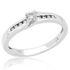 Diamond Promise Ring in White Gold