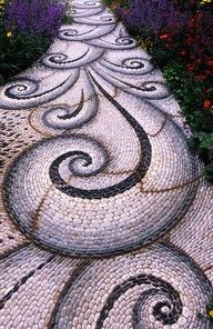 DIY pebble mosaic walkway - Google Search