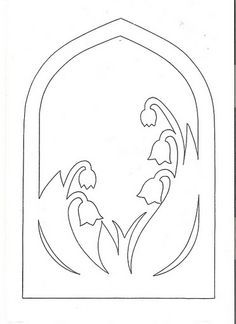 gallery of spring transparency patterns Kirigami Templates, Card Templates, Stencils, Waldorf Crafts, Parchment Craft, Scroll Saw Patterns, Pop Up Cards, Spring Crafts, Easter Crafts