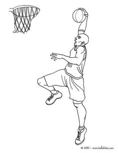 Kobe Bryant Coloring Page More Sports Pages On Hellokids