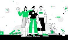 Netguru – Smart Illustration System on Behance People Illustration, Business Illustration, Manga Illustration, Character Illustration, Graphic Design Illustration, 2d Design, Icon Design, Flat Design, Design System