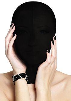 Ouch! Unterwerfung Maske - schwarz - Bondage Toys - Fetish