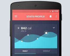 Android - Gesundheits App - New Ideas Health App Android, Android Apps, Mobile Ui Design, App Ui Design, Android Design, Dashboard Design, Iphone App, Flat Design, App Store