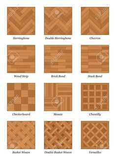 Pattern Chart - Most Popular Parquetry Wood Flooring. Royalty Free Cliparts, Vectors, And Stock Illustration. Image Pattern Chart - Most Popular Parquetry Wood Flooring. Royalty Free Cliparts, Vectors, And Stock Illustration. Wood Parquet, Parquet Flooring, Wooden Flooring, Kitchen Flooring, Hardwood Floors, Plywood Floors, Plywood Furniture, Laminate Flooring, Furniture Design