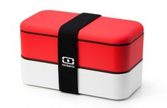 Lunch box, plastic, red
