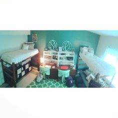 Auburn dorm room~ if we decide to loft out beds we would have more room