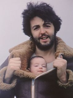 Paul McCartney with his daughter Mary McCartney (photo by Linda Eastman).
