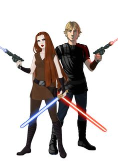 two of my OCs in star wars for some reason