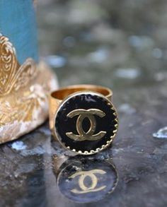 Chanel Button Ring..little bit vintage
