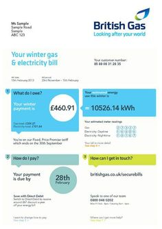 27 best electricity gas bill images on pinterest bill obrien british gas new bill preview maxwellsz