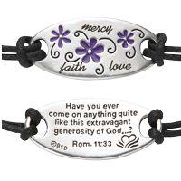 faith mercy love bracelet
