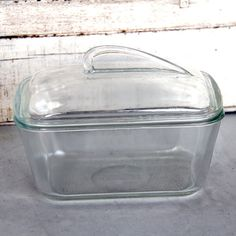 Glasbake 805 Glass Covered Loaf  Dish Vintage by inhis2hands