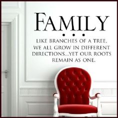 Family Tree Wall Mural | Family Like Branches of a Tree ~ Wall sticker / decals