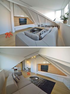 Slovak design studio at26, have designed the conversion of an attic space into a living space.
