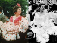 The Queen of Spain and Grace Kelly. Seville Spain, Don Juan, Why People, Grace Kelly, Beautiful People, Royalty, Ruffle Blouse, Actresses, Costumes