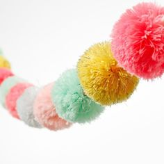 Adairs Kids Pom Pom Garlands Soft - Home & Gifts Gifts & Toys - Adairs Kids online
