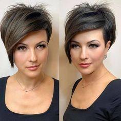Short Hair Undercut, Undercut Hairstyles, Crown Hairstyles, Short Bob Hairstyles, Short Hair Cuts, Short Hair Styles, Pixie Cuts, Corte Pixie, Great Hairstyles