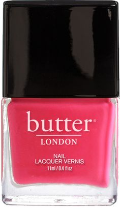 butter LONDON Cake-Hole Nail Lacquer | An opaque, nearly neon pink crème nail lacquer. A pink so bright, it can't be wrong!