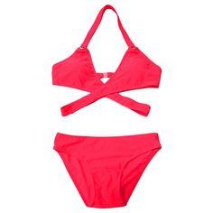 Bandage Solid Bikini Set
