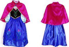 2014 Frozen Dress Elsa Anna Girl Frozen Party Dresses Frozen Costume Snowflake Cosplay Frozen Birthday Girls Princess Queen Halloween Kids