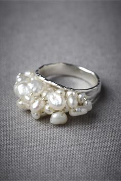I love the clustering ont his Spumante Ring at BHLDN! So cute!