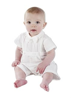 Boy Christening Outfits | ... Christening Romper | Boys Christening Outfits | Little Sweethearts