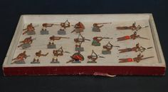 antike Zinnfiguren * 19 Indianer kämpfend im O.K. * Georg Heyde um 1900 | eBay