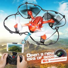 High quality Mini Drone JJRC H6W Real Time Video FPV Quadcopte RC Toys Dron With 2MP Hd Wifi Camera RC Helicopter Vs MJX X600 //Price: $48.89 & FREE Shipping //     #RCCar