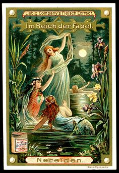 1896. In the Realm of Fables (Nereids) trading card issued by Liebig Extract of Beef Company. S472.
