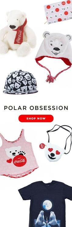 Satisfy your polar obsession with collectibles, apparel and gifts featuring the iconic Coca-Cola polar bears!  Available at cokestore.com