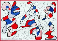 Kids Artists: In the style of Jean Dubuffet boys did this and they loved it---ds
